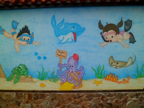 pintura fundo do mar