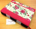 Caderno Buttonhole com Costura Longstitch - Floral Pink